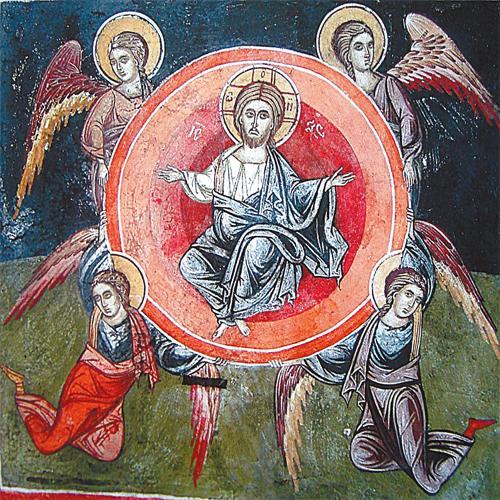 Ангелы внизу неестественно выгнули спины
