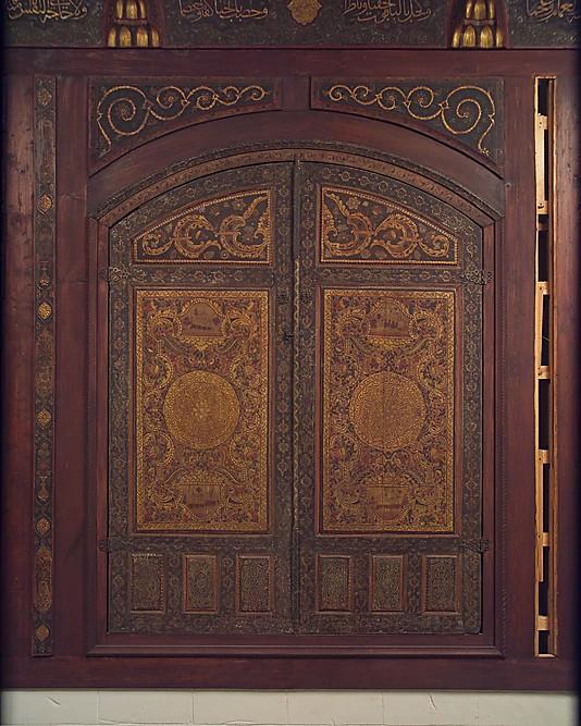 """""""Дамасская комната"""", Сирия, 1707 год, Дерево (тополь, кипарис, шелковица) с гипсовым рельефом, золото, краски, мрамор и другие камни, штукатурка со стеклом, керамическая плитка, железо, латунь"""