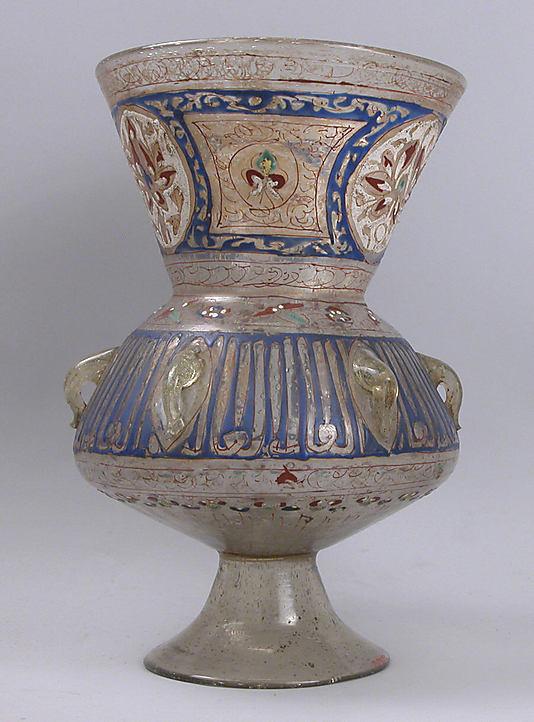 Лампа, Египет или Сирия, 14-ый век, эмаль, стекло, позолота