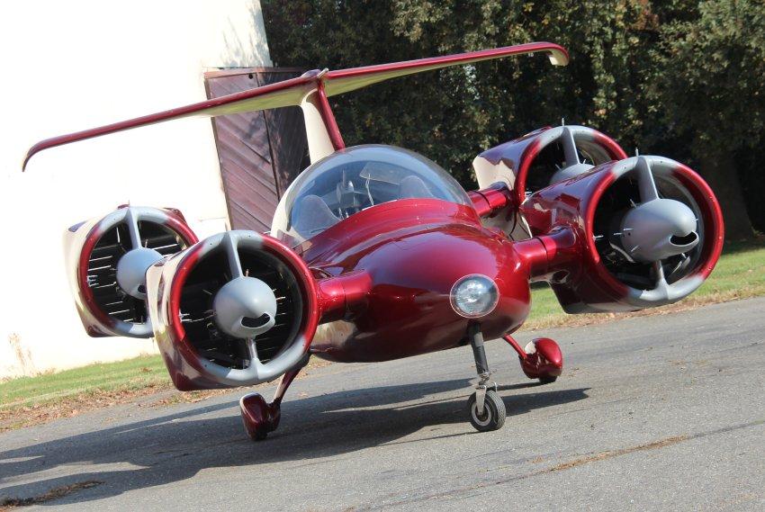Современный Skycar с 4-мя двигателями