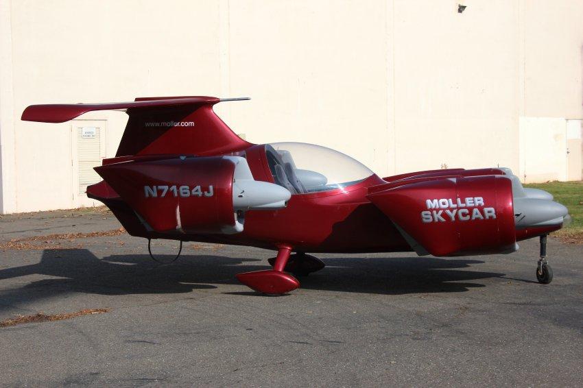 Skycar двигается со скоростью 500 км в час в воздухе