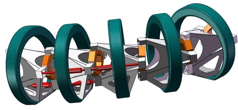 Опорно-двигательный аппарат робота-змеи