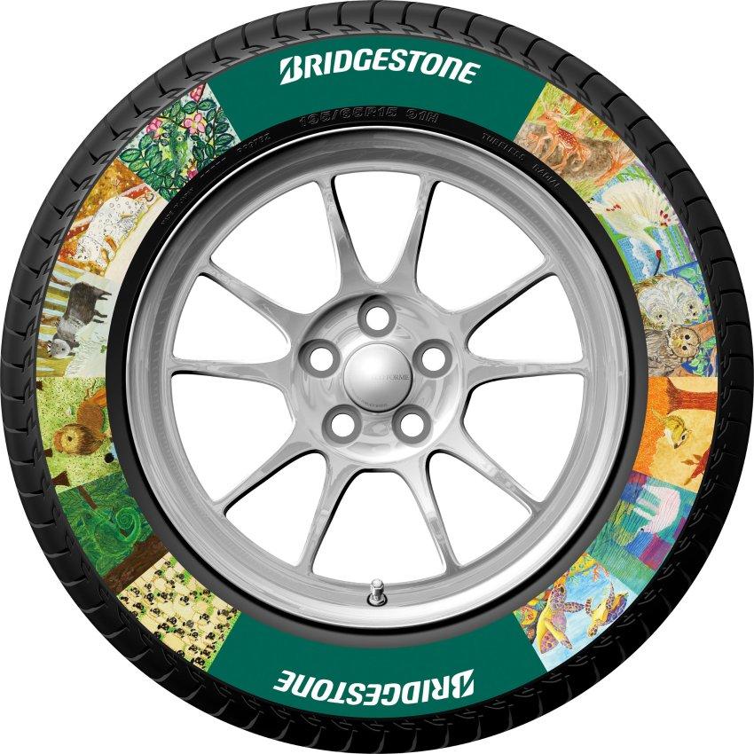 Bridgestone - печать готовых изображение на боковые поверхности шин