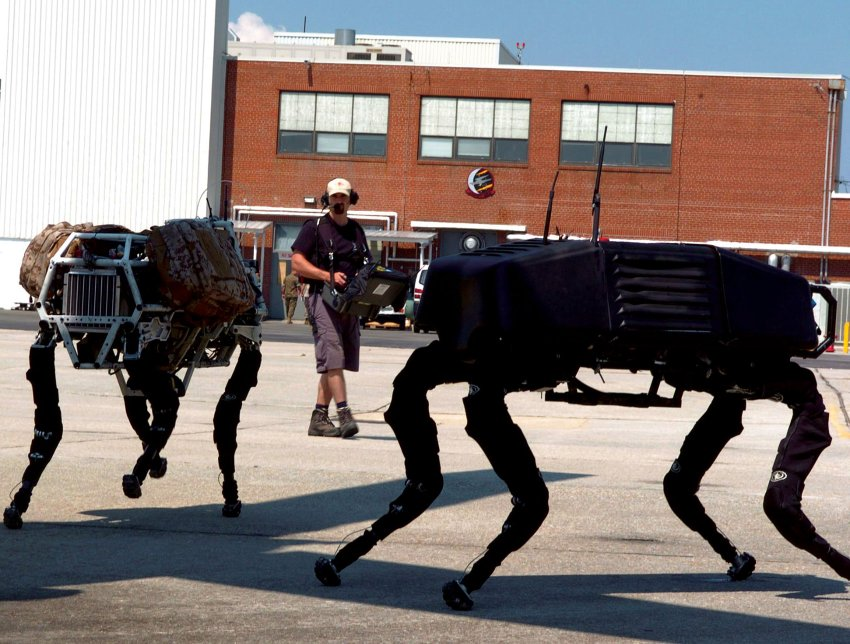 Новые роботы Big Dog Roboter от Boston Dynamics