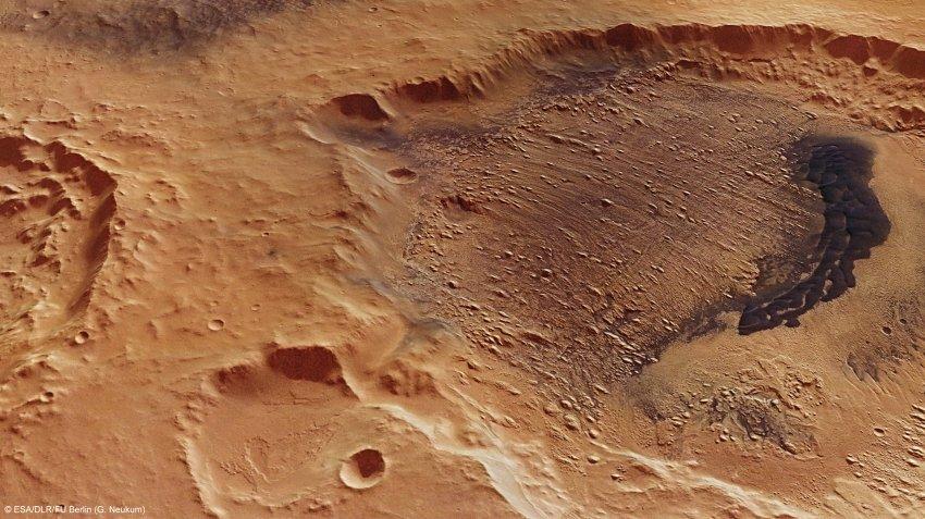 Один из кратеров Марса