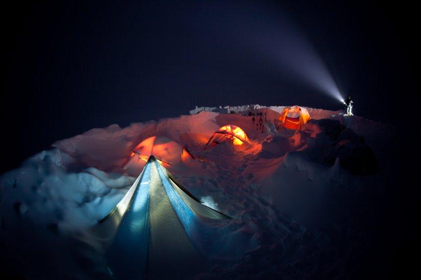 Ночь в палатках