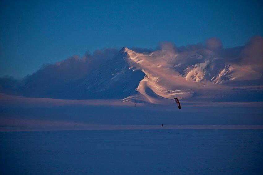 Снежный пейзаж Аляски