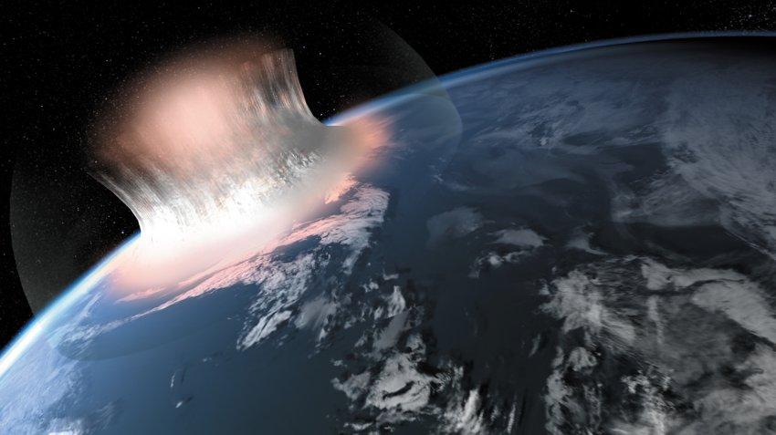 Вот так могло выглядеть падение гигантского меторита