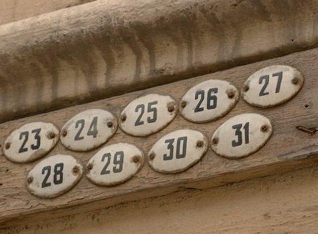 Номер квартиры своими руками
