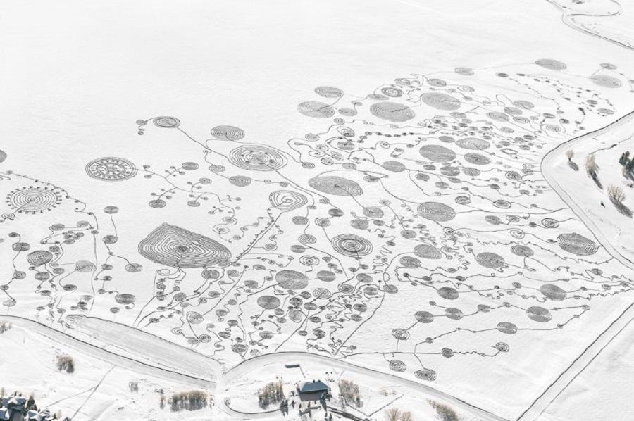 Узоры на снегу