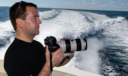 Фотограф Медведев, фотография с личного сайта Д.Медведева