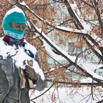 Шапка на памятнике Тарасу Шевченко