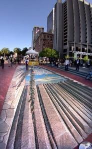 3D картины на улице