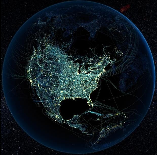 Присутствие технологий человека в Северной Америке