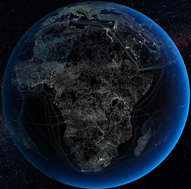 Присутствие технологий человека в Африке
