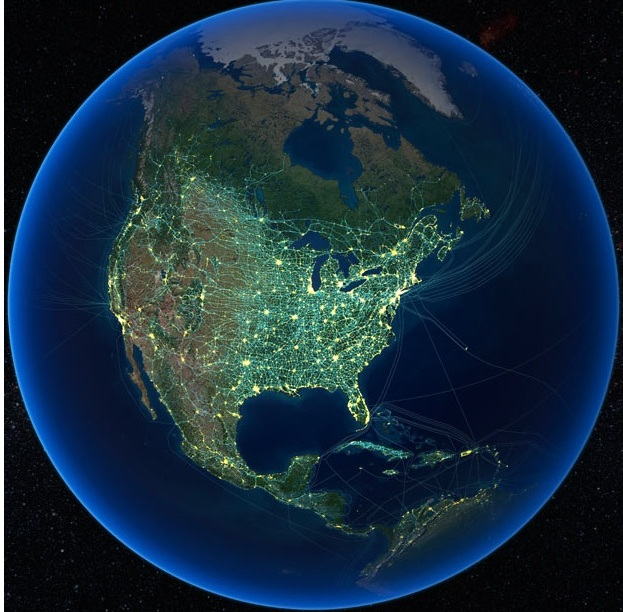 Присутствие человеческих технологий в Северной Америке