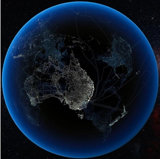 Наложение человеческих технологий в Австралии на остальные материки