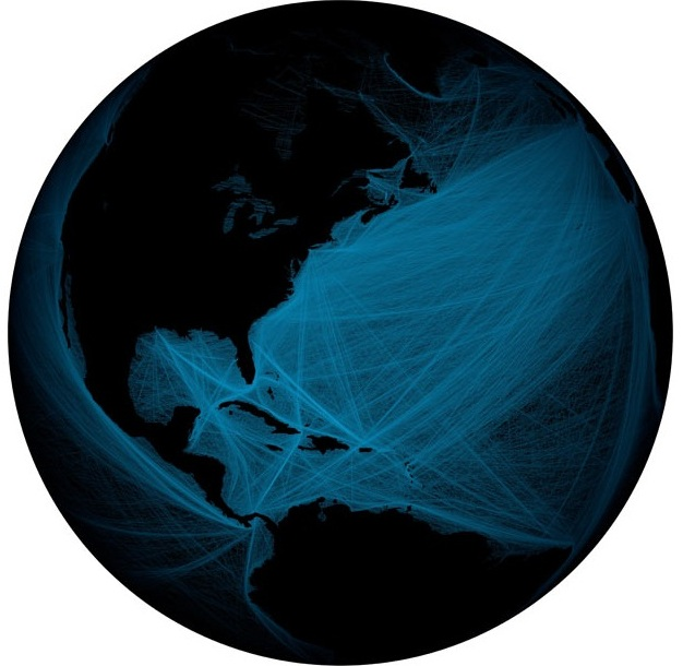 Морское движение вокруг Северной и Южной Америк