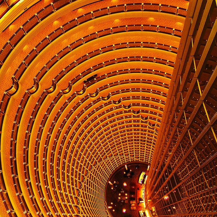 Уникальные снимки архитектуры Мельбурна, на которых невозможно различить отдельных зданий, фотограф  Teng Tan