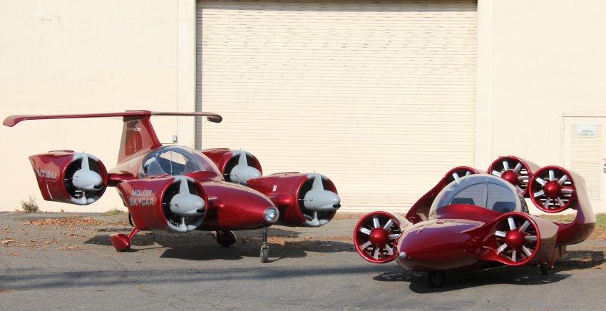 Сразу две летающих машины