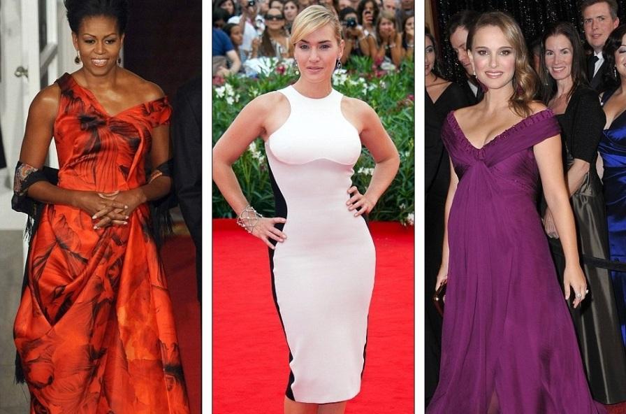 Мишель Обама в платье от Alexander McQueen, Кейт Уинслет в Stella McCartney, Натали Портман в Rodarte