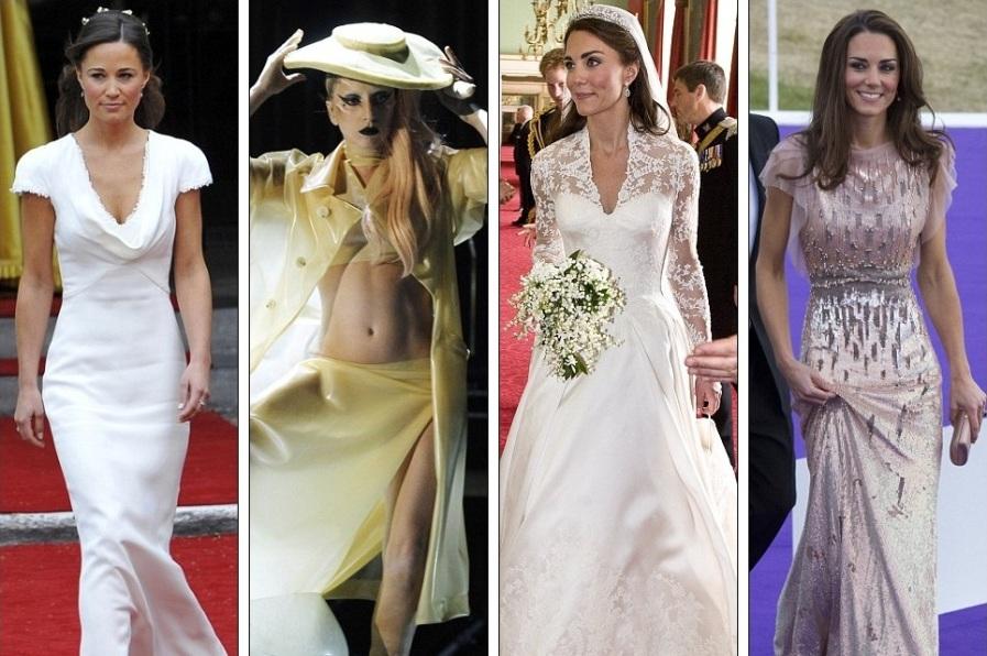 Пиппа Миддлтон в Alexander McQueen, Леди Гага в Hussein Chalayan, Кейт Миддлтон в Alexander McQueen, Кейт Миддлтон в Дженни Пэкхэм