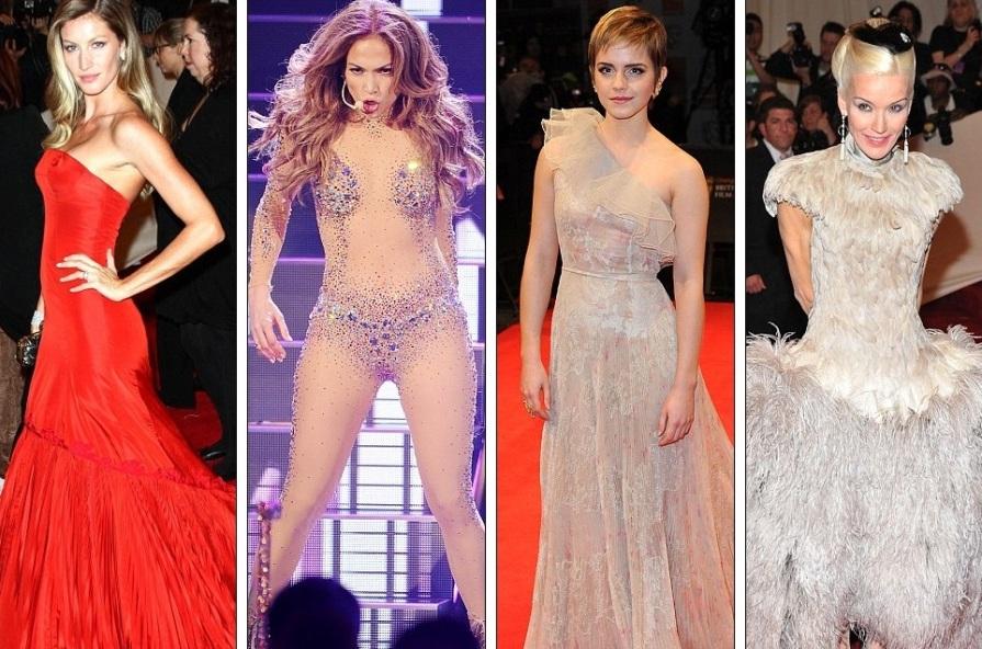 Жизель в Alexander McQueen, Дженнифер Лопес, Эмма Уотсон в Valentino, Дафна Гиннес в Alexander McQueen