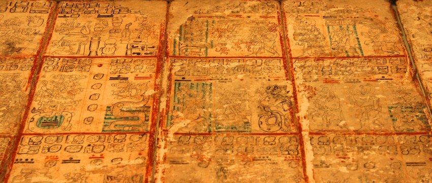 750 иероглифов Кодекса Майя, хранящегося в Дрезденской библиотеке