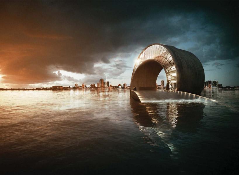 Санкт-Петербург Пирс в заливе Тампа, штат Флорида – конкурсная работа датской фирмы BIG Аrchitects