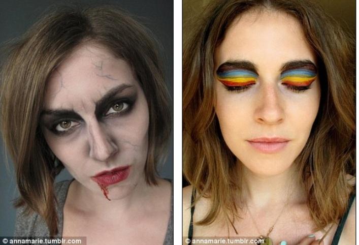 Для празднования Halloween  и глаза-радуга