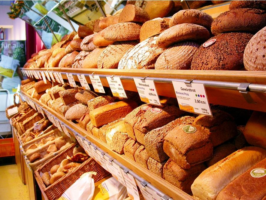 Хлебные прилавки в Германии