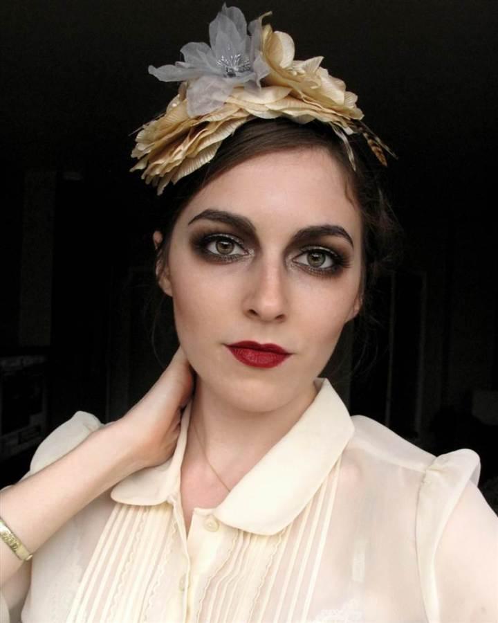 Гламурный макияж 20-х годов