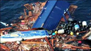"""К Северной Америке плывет """"ковёр"""" из мусора"""