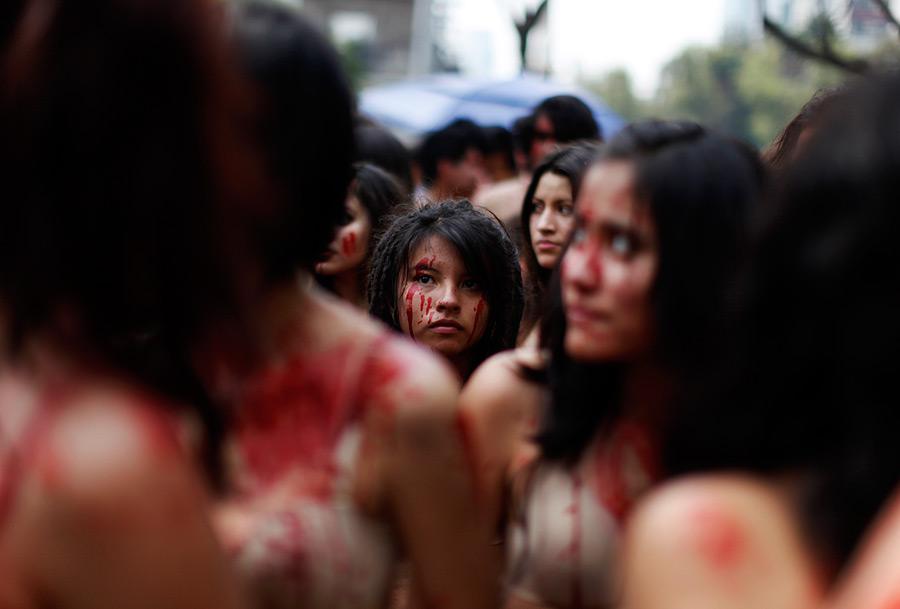 Акция защитников животных в Мехико