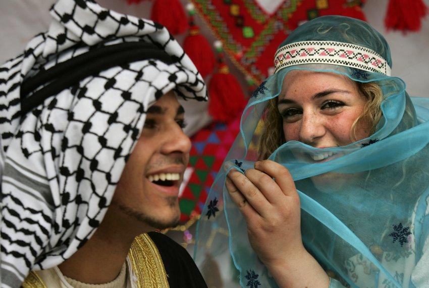 Палестинские студенты в Вифлееме