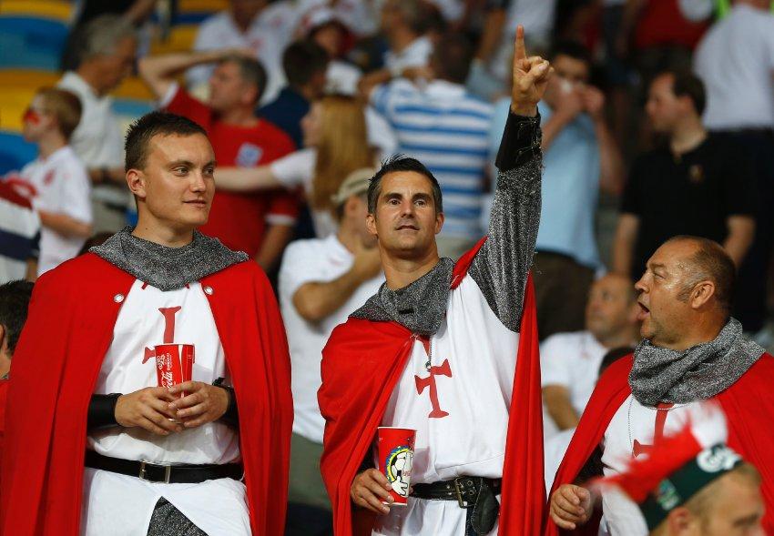 Матч между Англией и Италией в Киеве