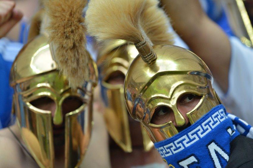 На игре Греции и России