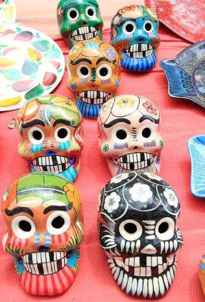 Маски майя в качестве сувениров