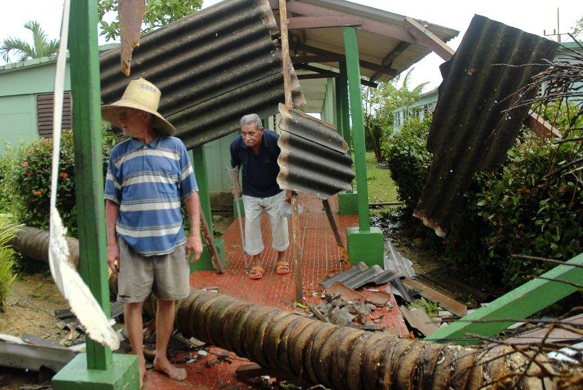 Разрушенная ураганом деревня в 750 км. восточнее Гаванны