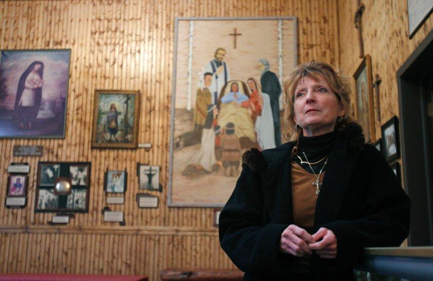 Музей с изображениями Катери в её родном городе Auriesville