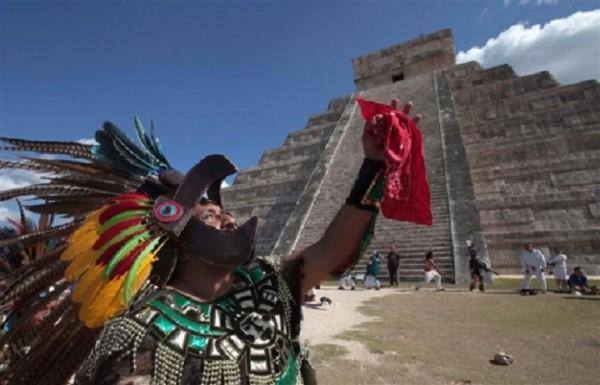 Мероприятие у пирамиды Чичен-Ица