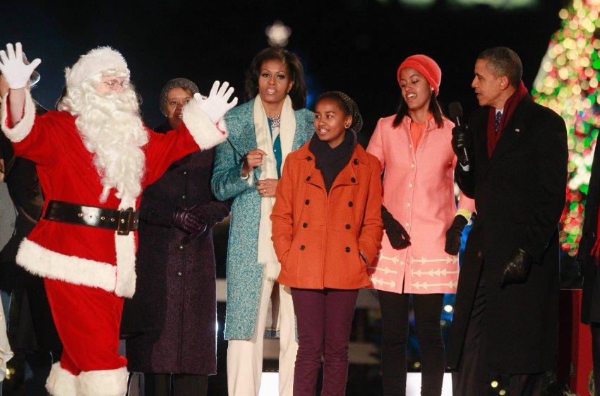 Открытие рождественской ёлки в Вашингтоне
