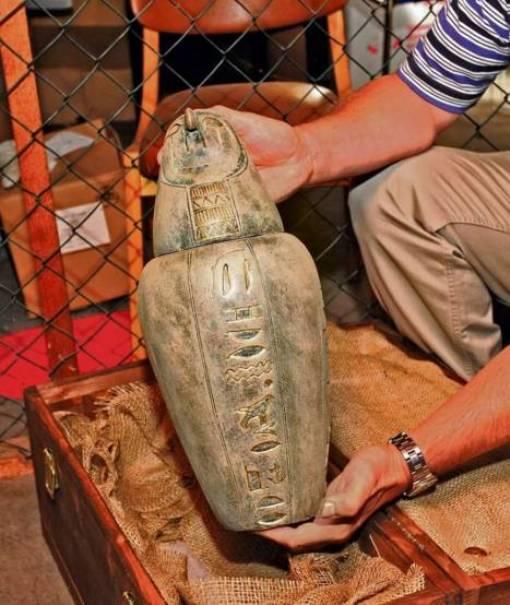 Сосуд для внутренних органов мумифицированного