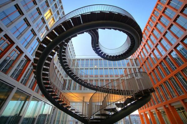 Лестница в Мюнхене, здание KPMG