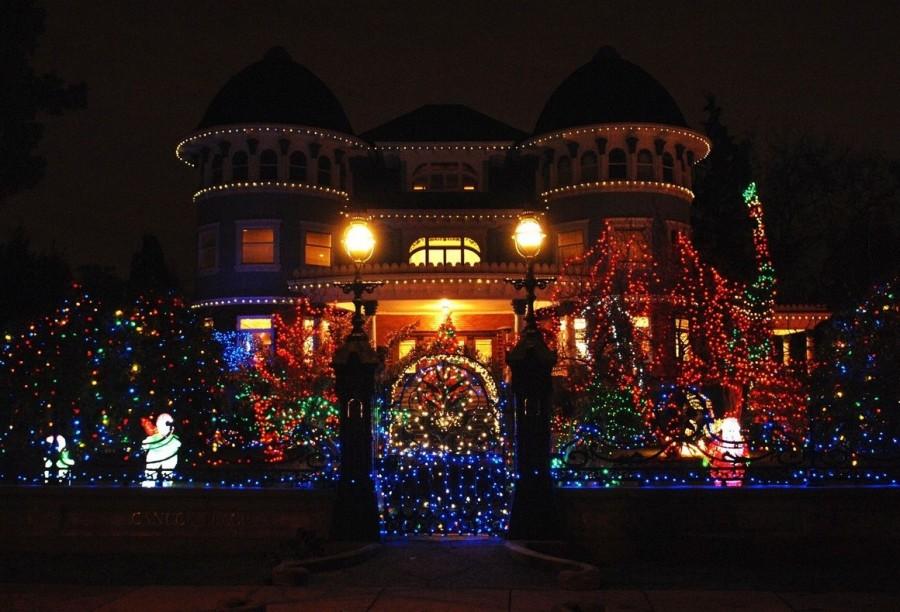 Рождественское световое оформление в Канаде. Ванкувер