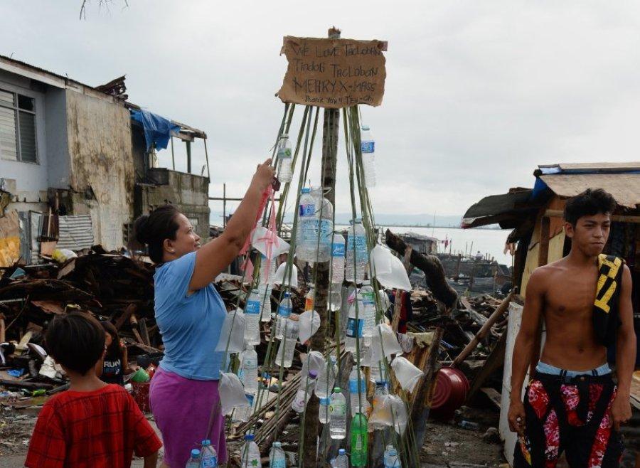 Импровизированная елка на Филиппинах