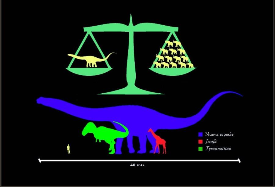 Динозавр весил столько, сколько весят 14 африканских слонов