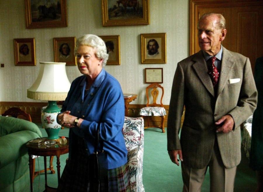 Елизавета и ее муж герцог Филип
