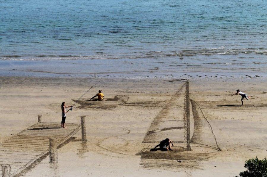 Картины на песке